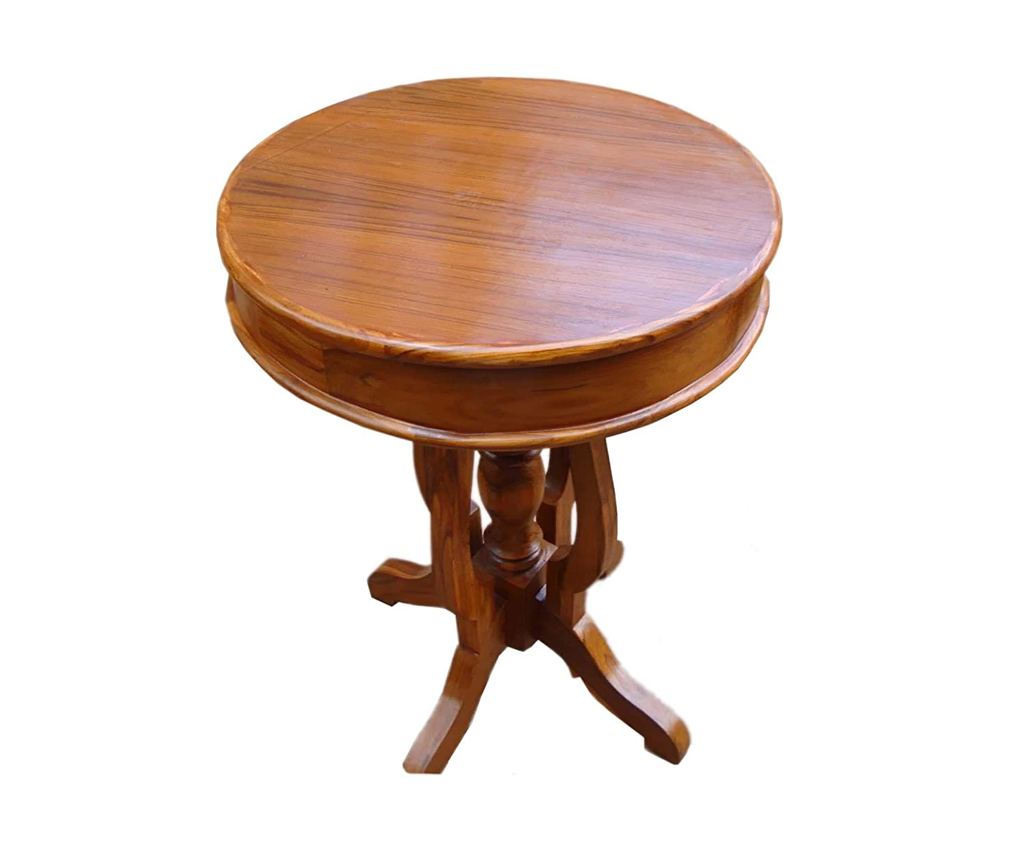 Solid Teak Wood Decorative End Table/Side Table