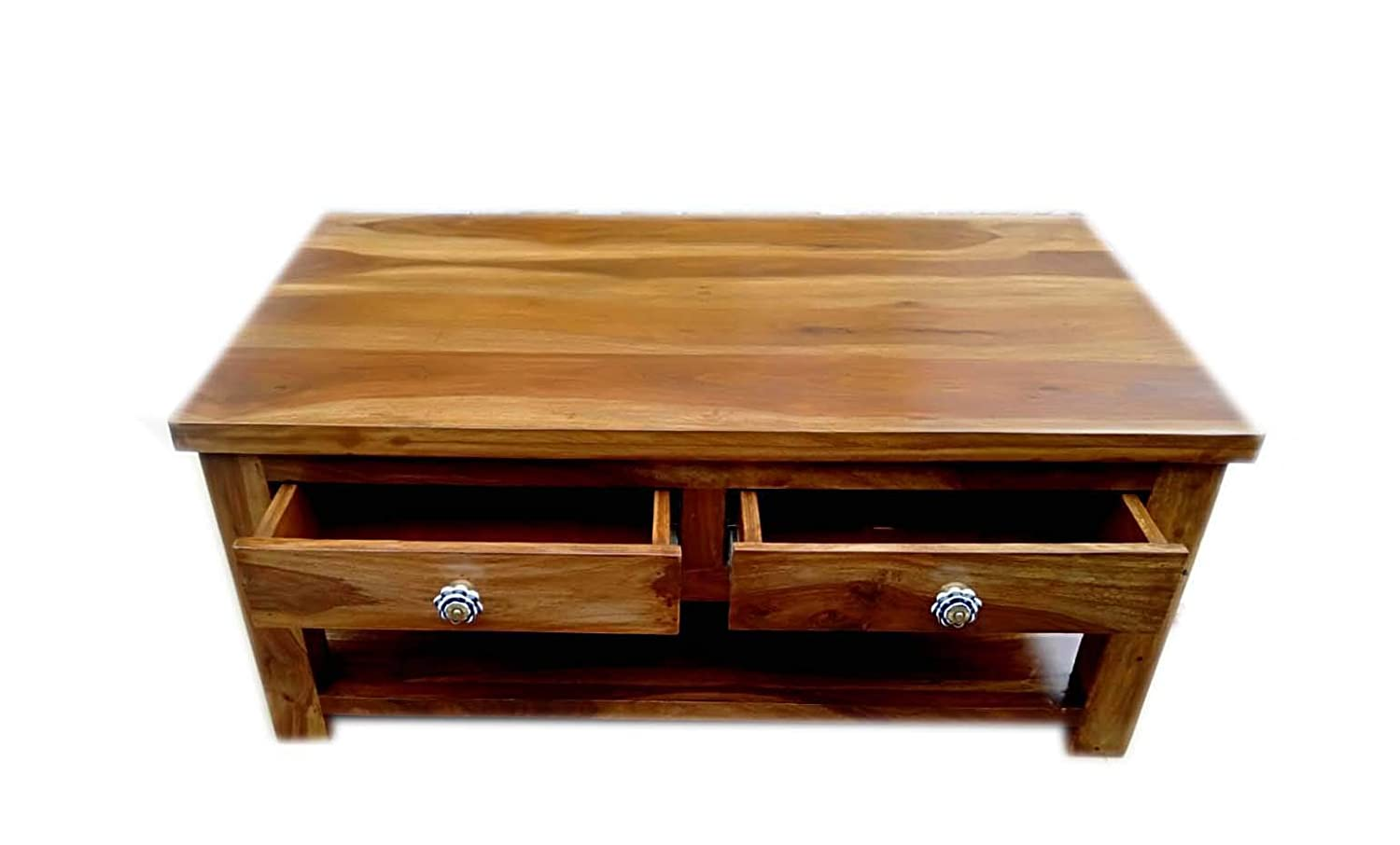 Exclusive Solid Rosewood (Sheesham) Coffee Table with Drawers