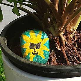 smiley-SUN, Pebble Art Handcrafted Garden and Room Décor for Home by NationBloom