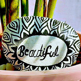 Beautiful , Pebble Art Handcrafted Garden and Room Décor for Home by NationBloom