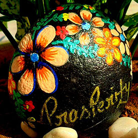 Prasperity, Pebble Art Handcrafted Garden and Room Décor for Home by NationBloom