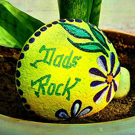 Dad Rock, Pebble Art Handcrafted Garden and Room Décor for Home by NationBloom