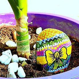 Riboon, Pebble Art Handcrafted Garden and Room Décor for Home by NationBloom