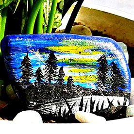 Sunset, Pebble Art Handcrafted Garden and Room Décor for Home by NationBloom