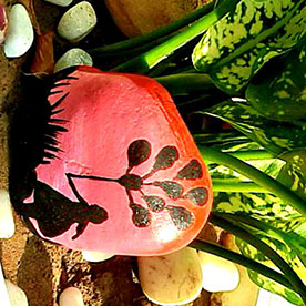 Happy Girl, Pebble Art Handcrafted Garden and Room Décor for Home by NationBloom