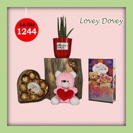 Lovey Dovey Set - Express Your Love With Amazing Green Gift Set