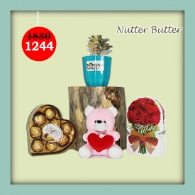Nutter Butter Set - Express Your Love With Amazing Green Gift Set
