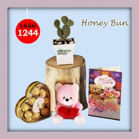 Honey Bun Set - Express Your Love With Amazing Green Gift Set