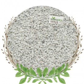 White Natural Chips Pebbles Small, Unpolished 500GM