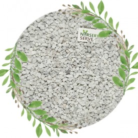 White Natural Chips Pebbles Small, Unpolished 1 KG