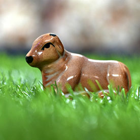 Crafted Cattle Miniature Garden Toy