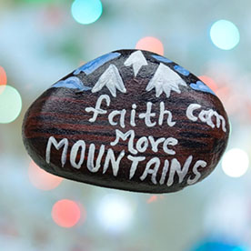 Faith, Pebble Art Handcrafted Garden and Room Décor for Home by NationBloom