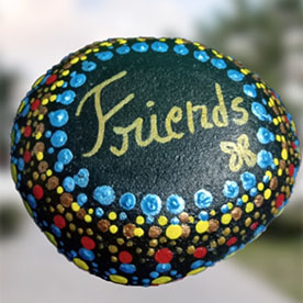 Friends, Pebble Art Handcrafted Garden and Room Décor for Home by NationBloom