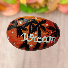Dream, Pebble Art Handcrafted Garden and Room Décor for Home by NationBloom